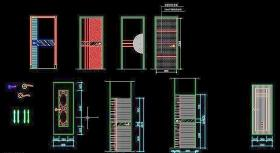 几款门的CAD立面图