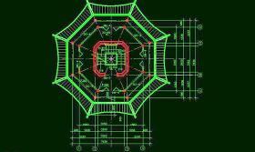古建筑古塔CAD素材