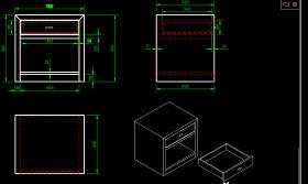 床头柜CAD