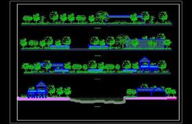 園林立面城市景區cad圖庫