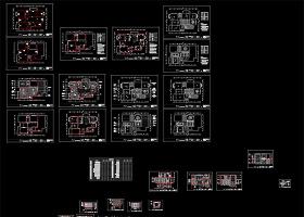 家装全套设计图CAD