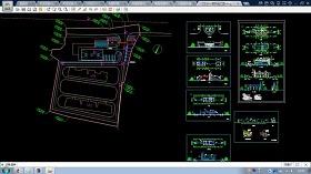 大型社区门卫设计CAD建筑施工图纸