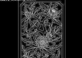 cad歐式花紋雕塑圖片