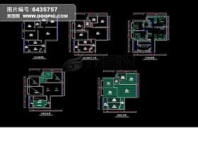 兩室一廳一衛CAD設計方案圖紙