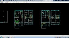 農村自建房CAD平面及立面設計施工圖