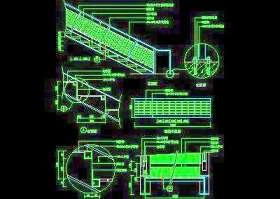 木楼梯、铁艺楼梯、旋转楼梯、现代式楼梯、楼梯扶手CAD图块43
