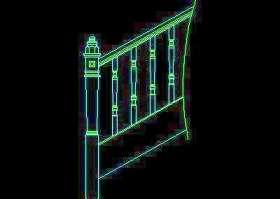 木楼梯、铁艺楼梯、旋转楼梯、现代式楼梯、楼梯扶手CAD图块25