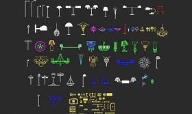 CAD灯具素材之三维灯库