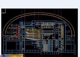 免费影剧院cad剖面施工工程设计图纸