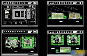 高中圖書館建筑cad設計施工方案圖