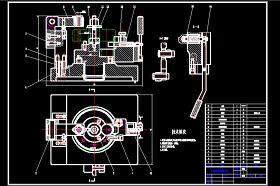 立轴回转分度钻床夹具CAD图纸