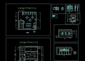 小型酒吧室内全套装修CAD设计图