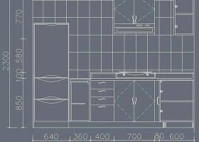 家装厨房cad立面图纸图片