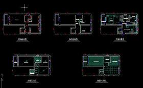 小户型家装CAD设计图纸
