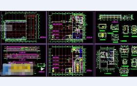 汽车展厅cad施工设计工程图纸