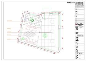 门卫室内装施工图CAD图纸