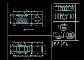 高档多功能会议室CAD装修施工图