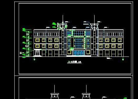 辦公樓建筑cad全套施工圖紙
