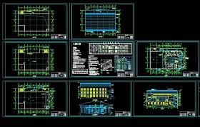 中学礼堂CAD建筑施工图