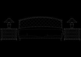 欧式床cad图纸