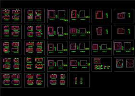 歌舞厅KTV包间装修施工详图CAD图纸