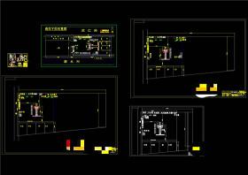 搅拌站布置图CAD机械图纸