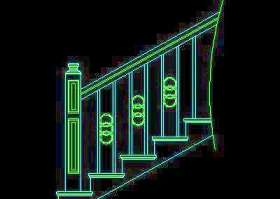 木楼梯、铁艺楼梯、旋转楼梯、现代式楼梯、楼梯扶手CAD图块22