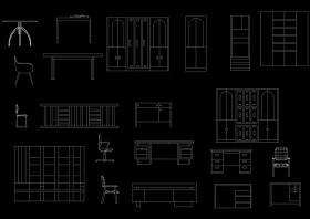 家具cad图块
