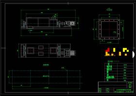雙軸加濕攪拌機安裝總圖CAD機械圖紙