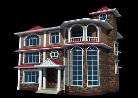 别墅三层CAD建筑图