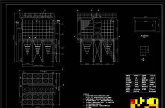 布袋除尘器CAD机械图纸