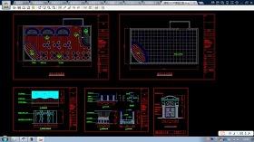 北京某酒吧整套CAD设计平面施工图