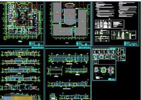大型售楼处建筑设计施工工程cad图纸
