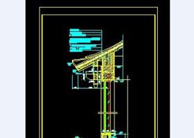 圖書館鋼筋混凝土結構墻身剖面圖CAD圖紙