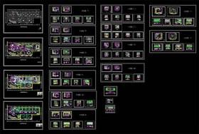 完整豪华KTV包厢施工图cad设计图