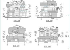 中式别墅CAD图纸