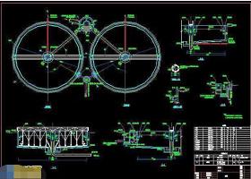 某污水处理工程二沉池cad工艺施工设计图
