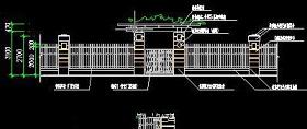 景观围墙CAD立面图