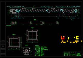 螺旋輸送機外觀圖CAD機械圖紙