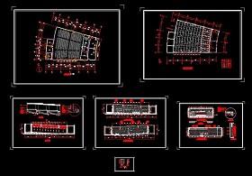 某大学阶梯式大会议室CAD设计施工图