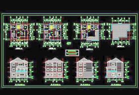 新农村建设住宅设计CAD设计施工图纸