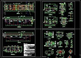 景观木桥CAD施工详图