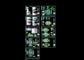 CAD两层别墅图纸