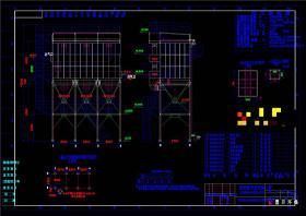 高效脈沖袋式除塵器CAD機械圖紙