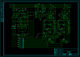 二台柴油发电机并车控制电路图CAD图纸