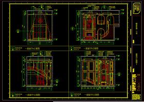 室内设计工装施工图cad源文件