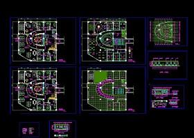 房地產辦公室平面CAD布置圖