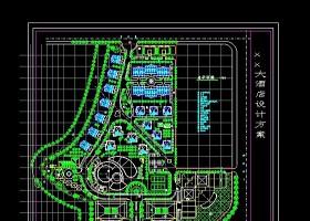 xx景观园林酒店CAD规划设计方案图纸