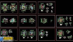 三层瓦房别墅cad建筑施工设计图