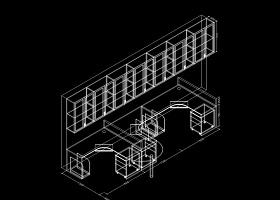 办公桌屏风CAD素材